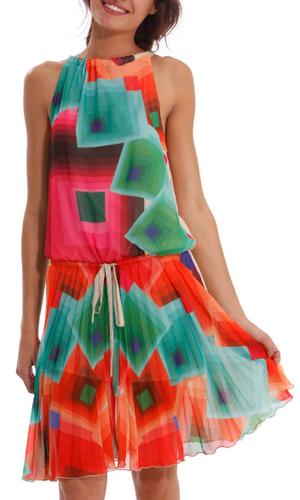 Vestido corto estampado colores Desigual
