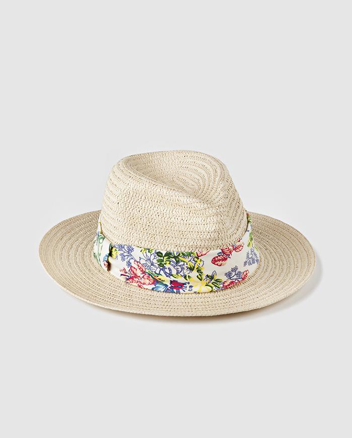 Sombrero flores el corte ingles
