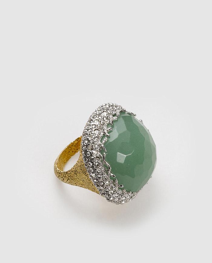 Anillo piedra verde el corte ingles