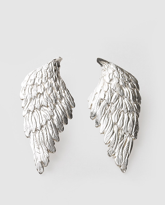 Pendientes alas plata el corte ingles