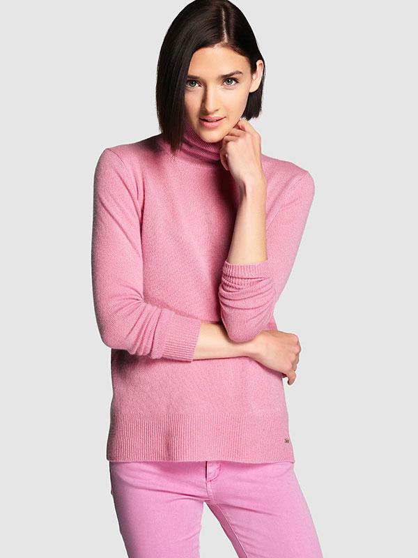 Jersey de cuello vuelto rosa de Tintoretto