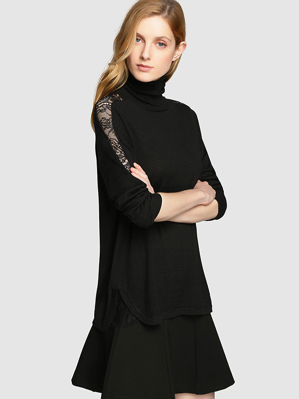 Jersey negro de encaje de Tintoretto