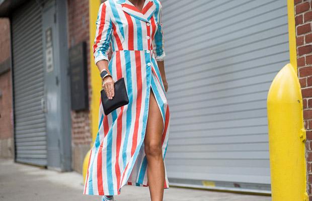 Street style inspiración rayas: Tendencia blanco, tropical y rayas