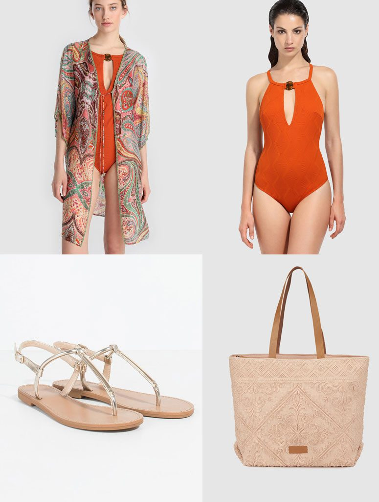 Look de playa con caftán