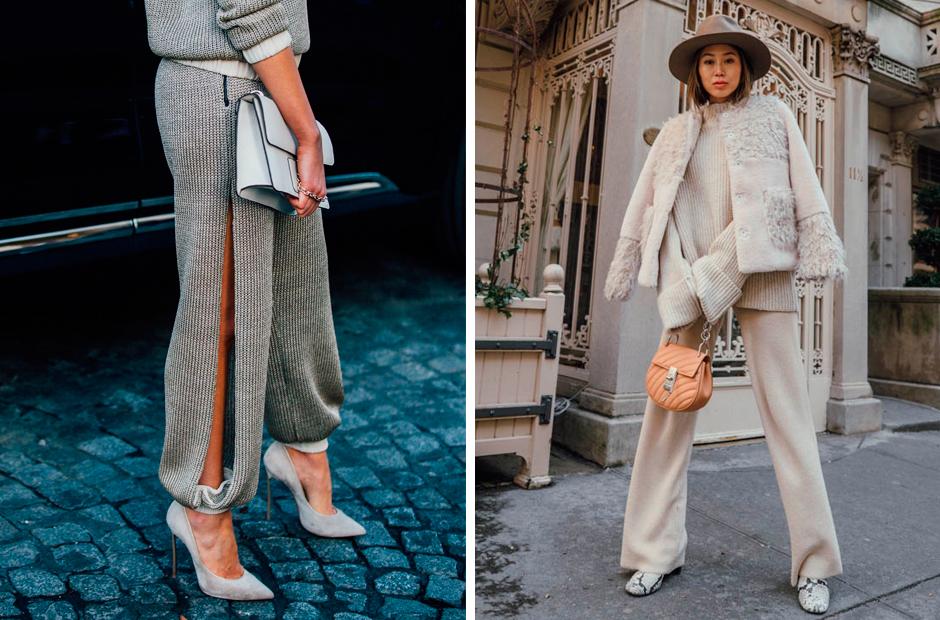 Pantalones de punto