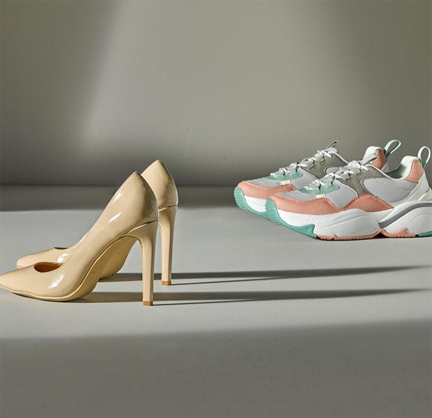 zapatos de color pastel