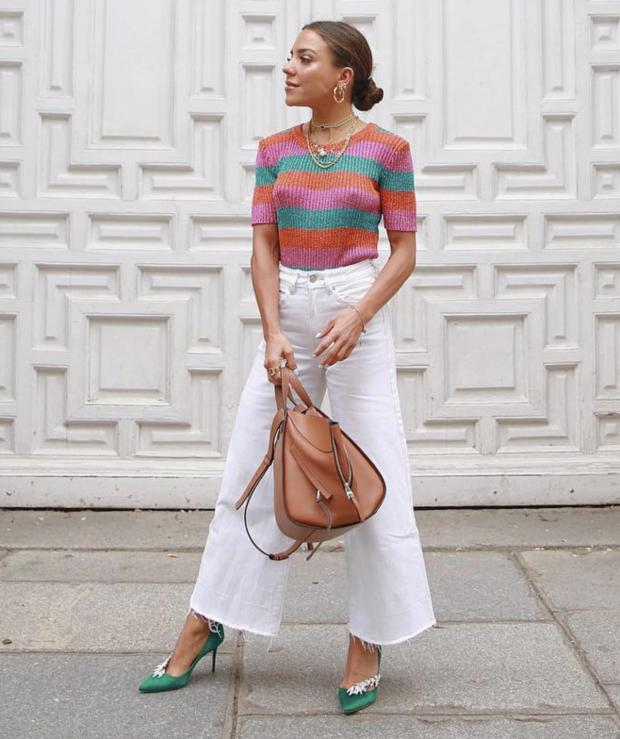 Paula Ordovás con zapatos de puntera fina