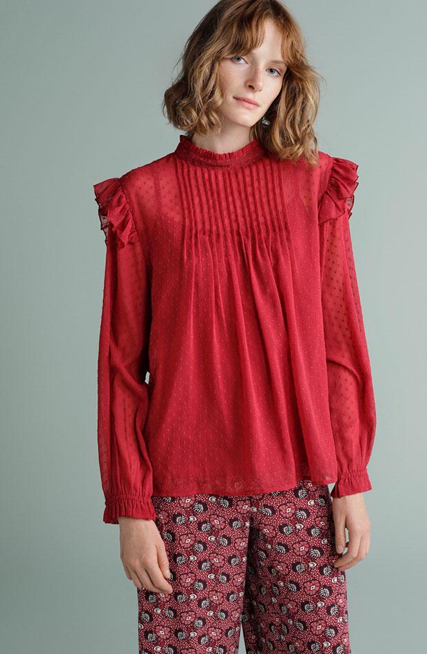 blusa roja tintoretto