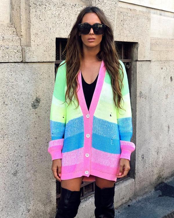 jersey colorido tejido de punto