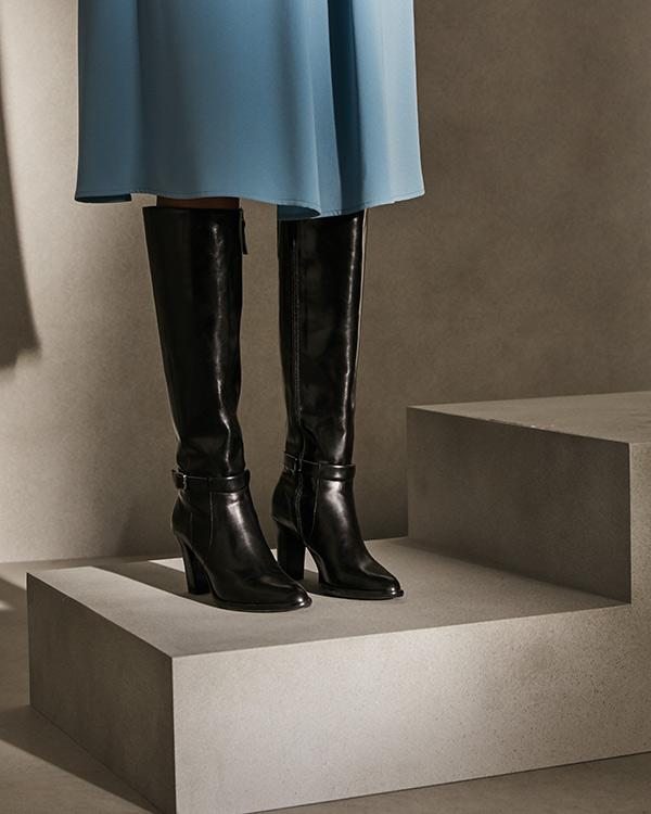 botas altas negras gloria ortiz