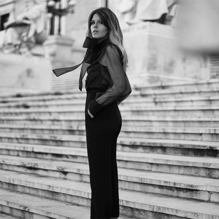Instagram Ester Bellón Look para cena de empresa