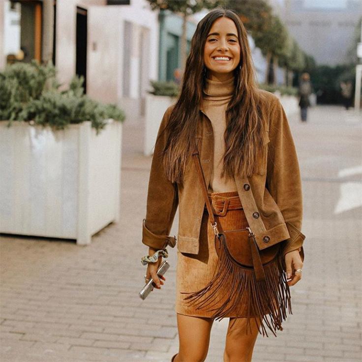 María Fernández Rubíes estilo prendas de pana