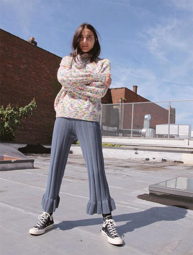 Pantalones de moda de punto