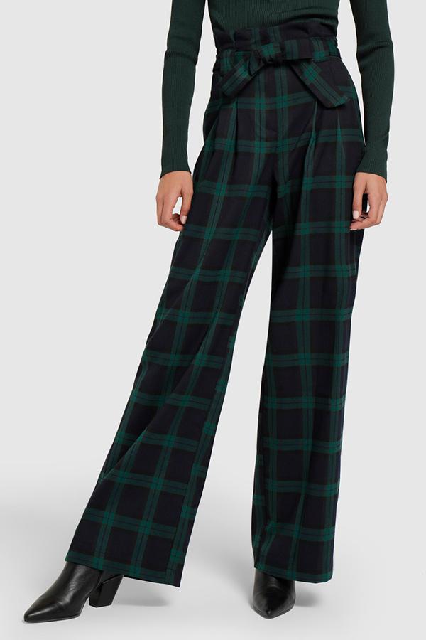 Pantalones de moda de cuadros de El Corte Inglés