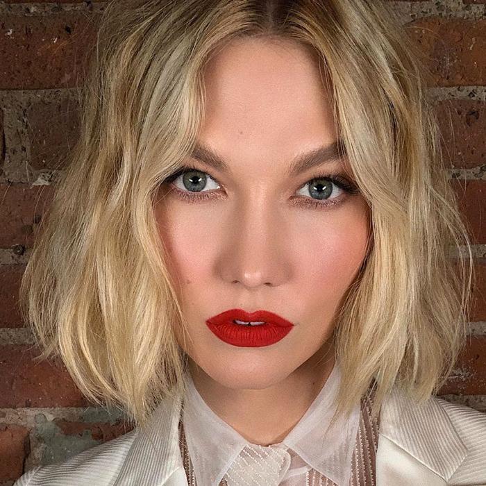 tendencias de maquillaje 2020 labios rojos
