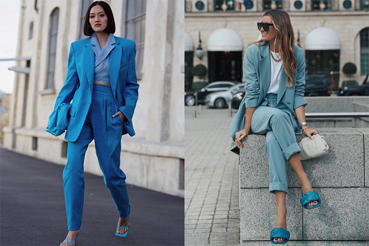 @handinfire y @bartabacmode traje en color azul