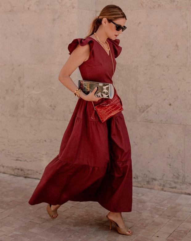 Ana Vera con vestido para cenas de verano