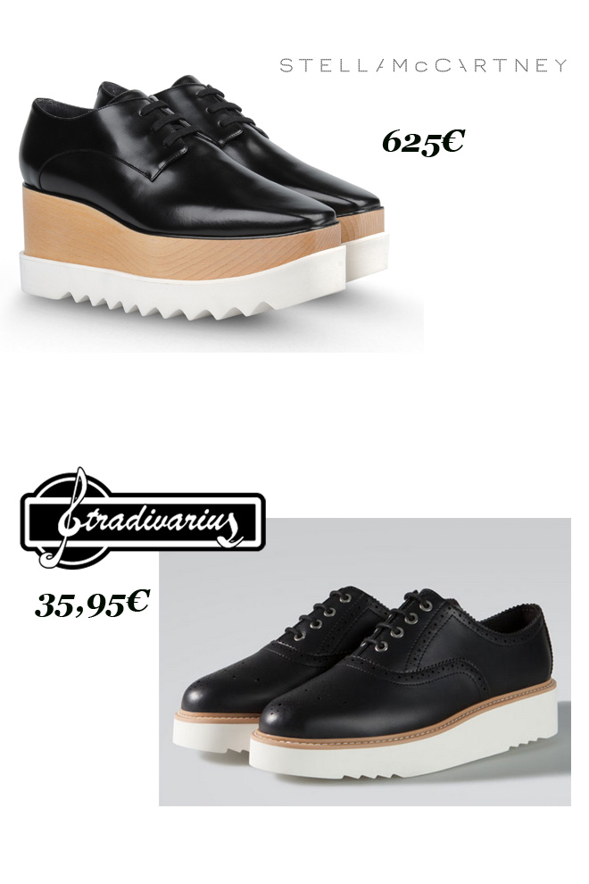 Blutchers con plataforma: Stella McCartney Vs. Stradivarius-48341-entutiendamecole