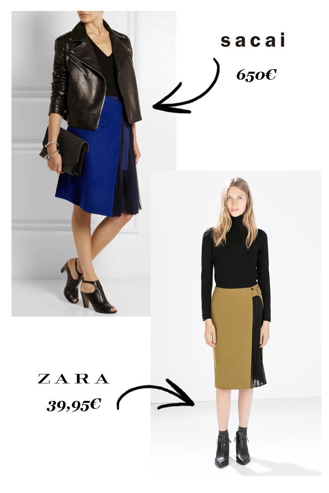 Falda midi plisada- Sacai Vs. Zara-48344-entutiendamecole