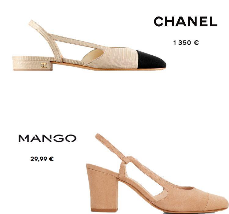 Escarpines de Chanel versionados por Mango