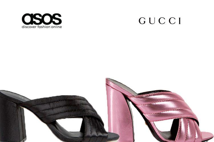 Sandalias de Asos y Gucci