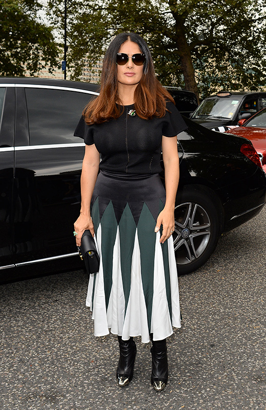 Salma Hayek London Fashion Week