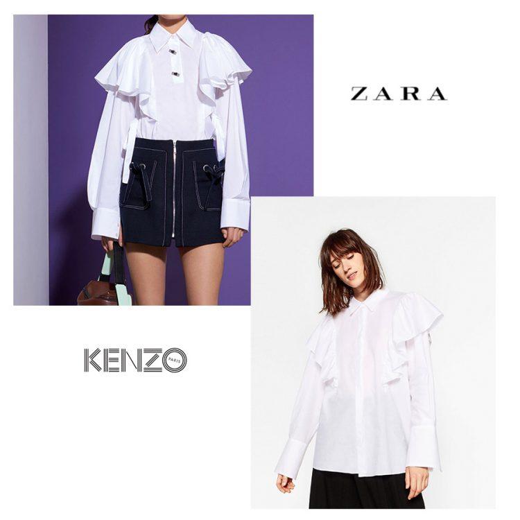 Camisa de volantes Kenzo y Zara