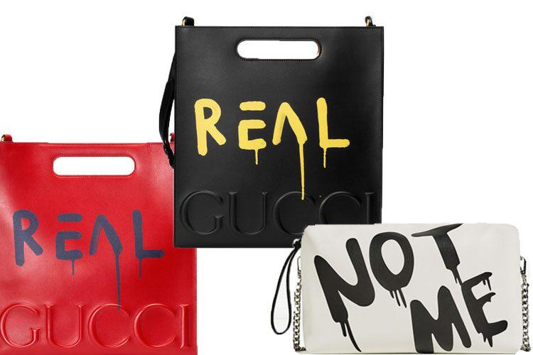 Zara, Gucci grafiti bags