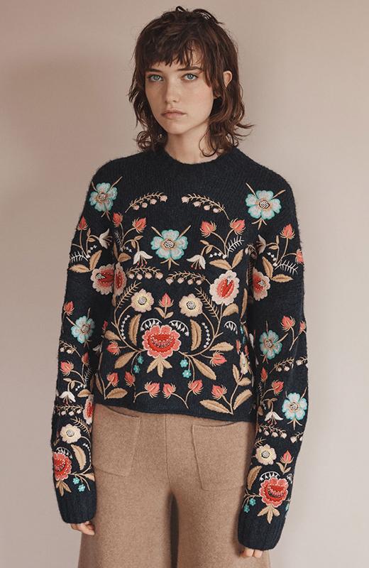 Jersey de Zara con flores