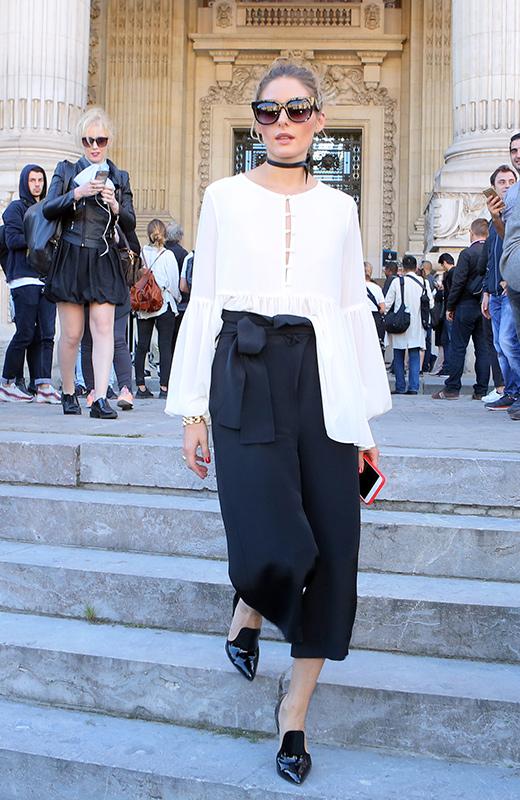 Olivia Palermo en el desfile de Barbara Bui