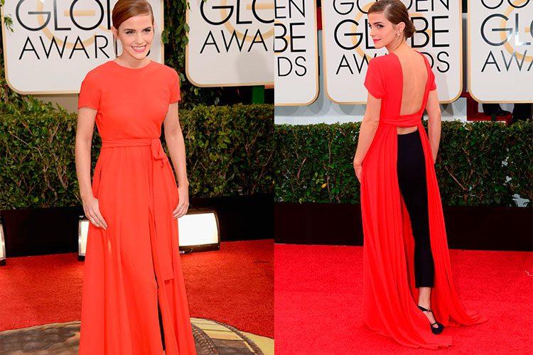 Emma Watson en los globos de oro de Dior