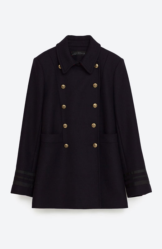 abrigo azul marino