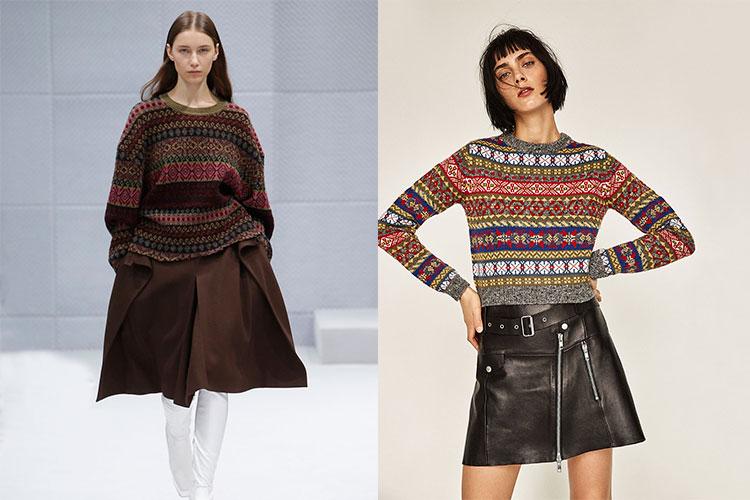 Jersey de Balenciaga y Zara