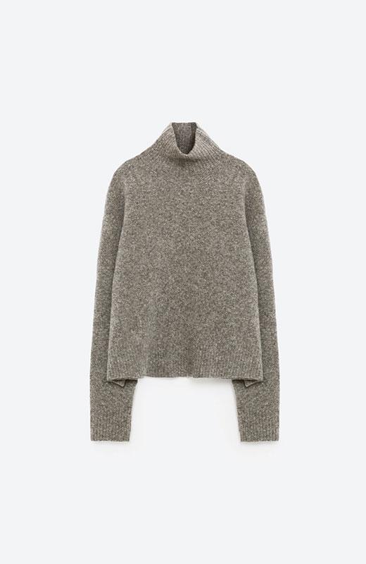 jersey gris de zara