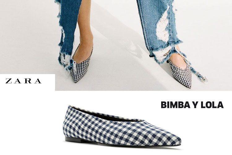 Bailarinas vichy: Zara Vs. Bimba y Lola-49704-entutiendamecole