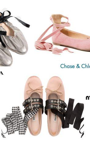 La tendencia del verano: bailarinas con lazada