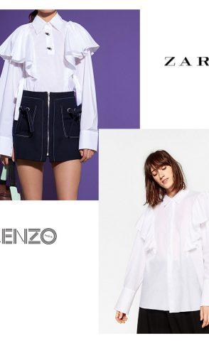 Camisa con volantes: Zara Vs. Kenzo