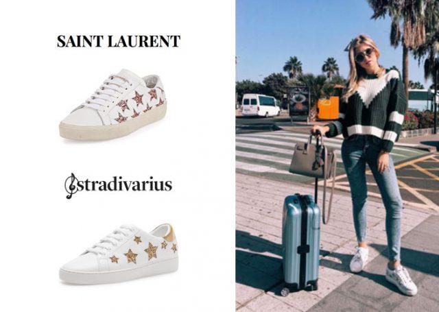 Zapatillas estrella: Saint Laurent Vs. Stradivarius