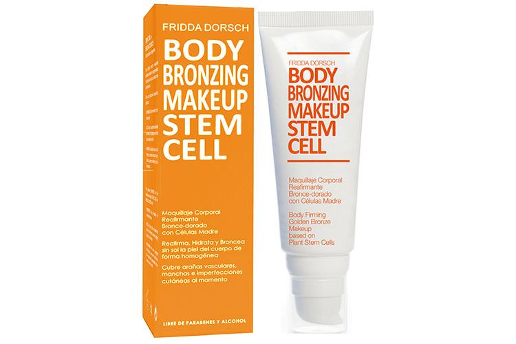 maquillaje corporal natural de fridda dorsch. gama stem cell