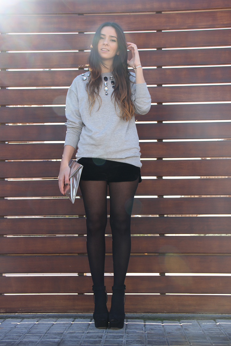 Sweatshirt DIY + Velvet short Sin categoru00eda - Gossips made me famous