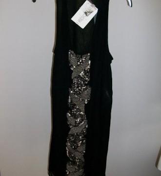 vestido negro fiesta Kookai