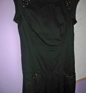 Vestido Negro con Tachuelas.