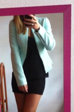 chaqueta azul zara (sin usar)