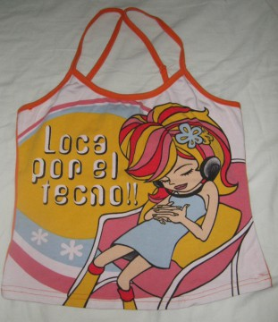 Camiseta tirantes muñeca