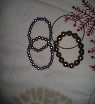 lote 4 pulseras Blanco