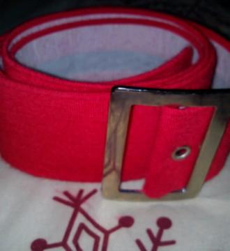Cinturon rojo estilo pin up