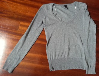 Jersey pico gris