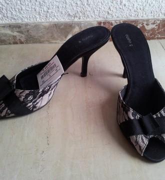 Zapato de encaje de Oysho