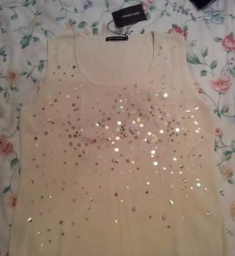 Camisa de punto suave con lentejuelas