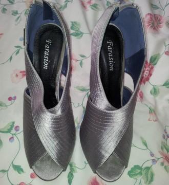Zapatos gris plata
